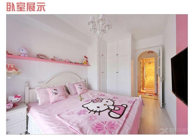 单身公寓现代简约卧室卧室背景墙