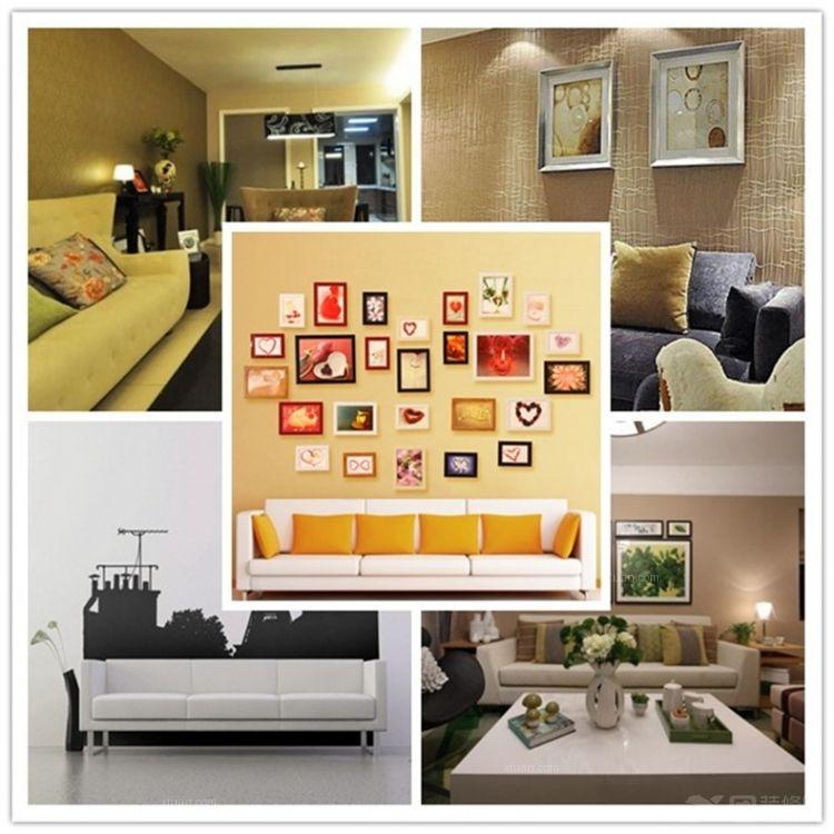 海景别墅田园风格主卧室照片墙
