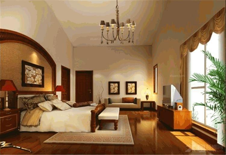 三室两厅美式风格卧室