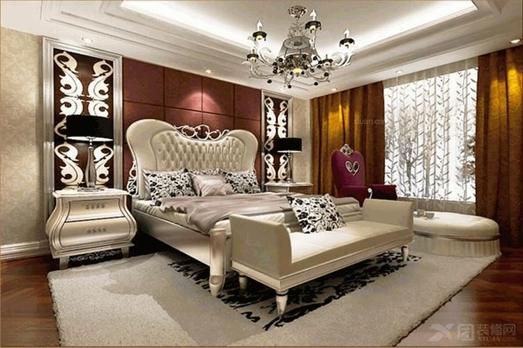 两居室韩式风格主卧室