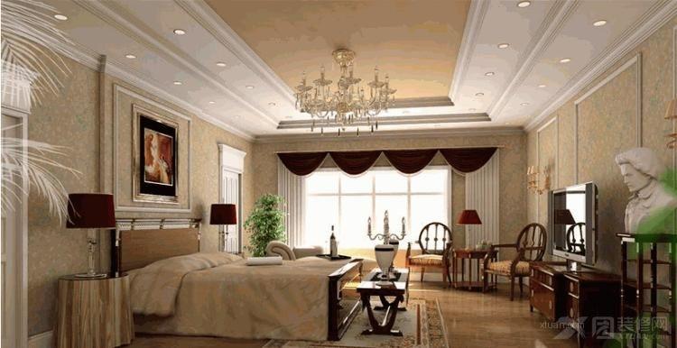 两居室现代简约卧室_森林半岛装修效果图-x团装修网