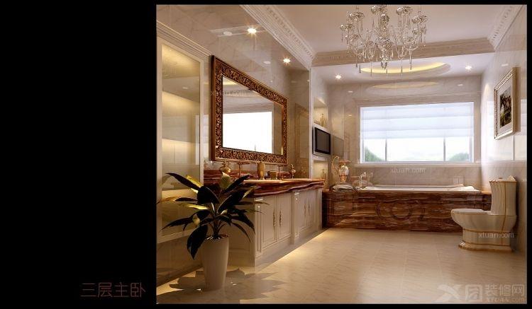 别墅欧式风格_都市心海岸-欧式奢华复试220平米装修