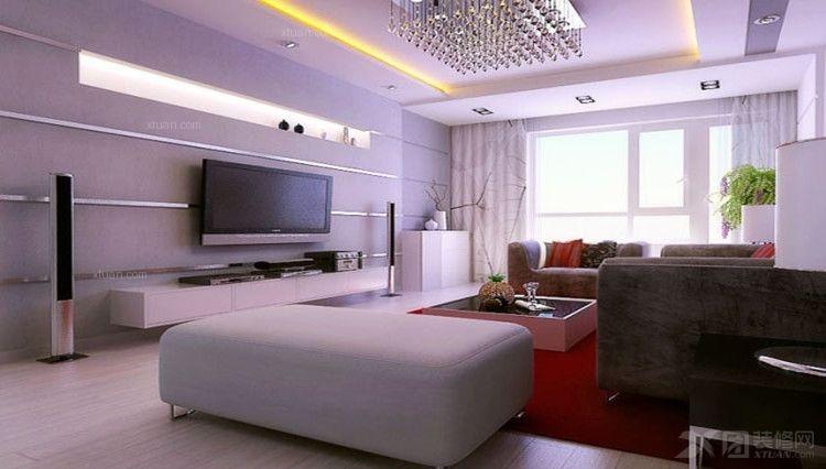 一室一厅现代简约客厅家庭影院
