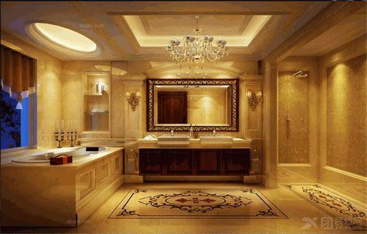 三室两厅欧式风格客厅_欧式奢华装修效果图-x团装修网