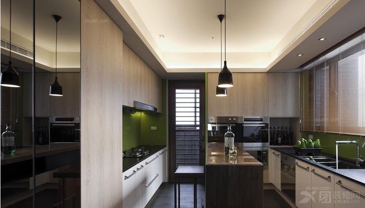 大户型现代风格厨房_中外公寓装修效果图