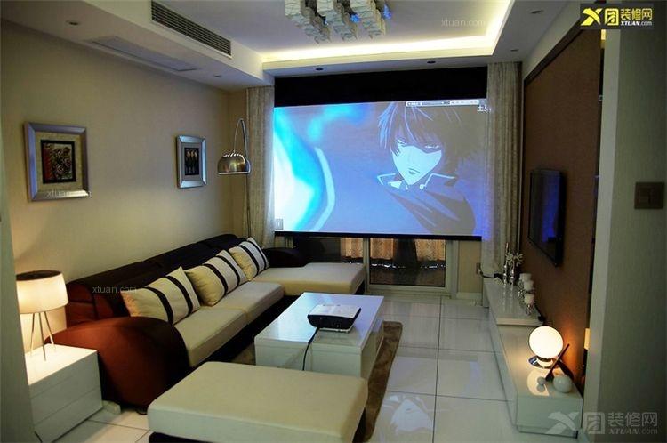 超小户型美式风格客厅影视墙