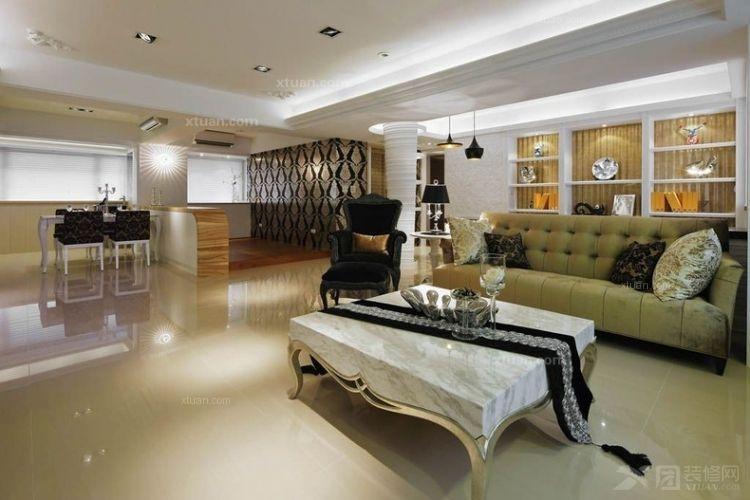 三室一厅现代风格客厅软装