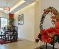 中式红色温馨婚房装修效果图