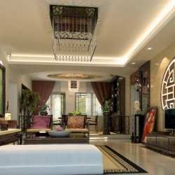 2厅3卫1厨中式现代家装案例