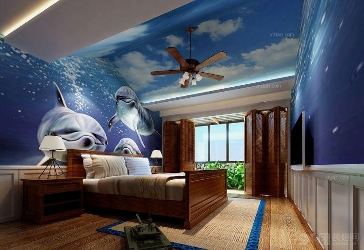 四居室东南亚风格卧室