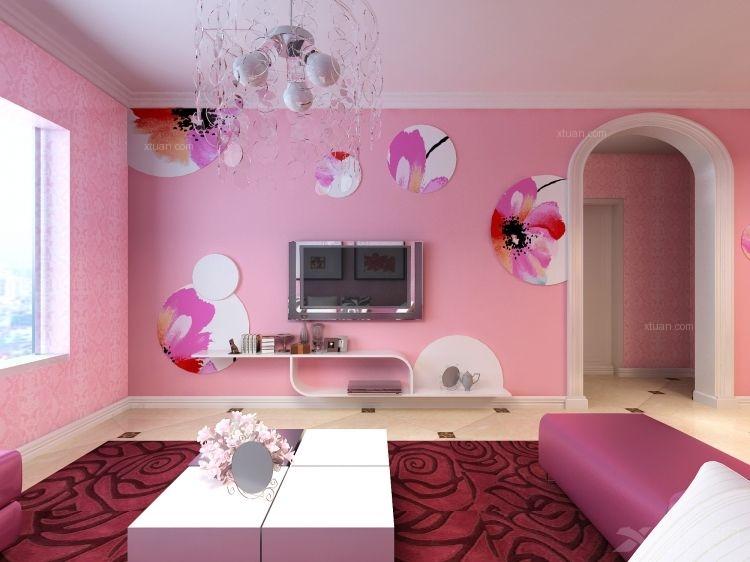 两室一厅现代简约客厅电视背景墙