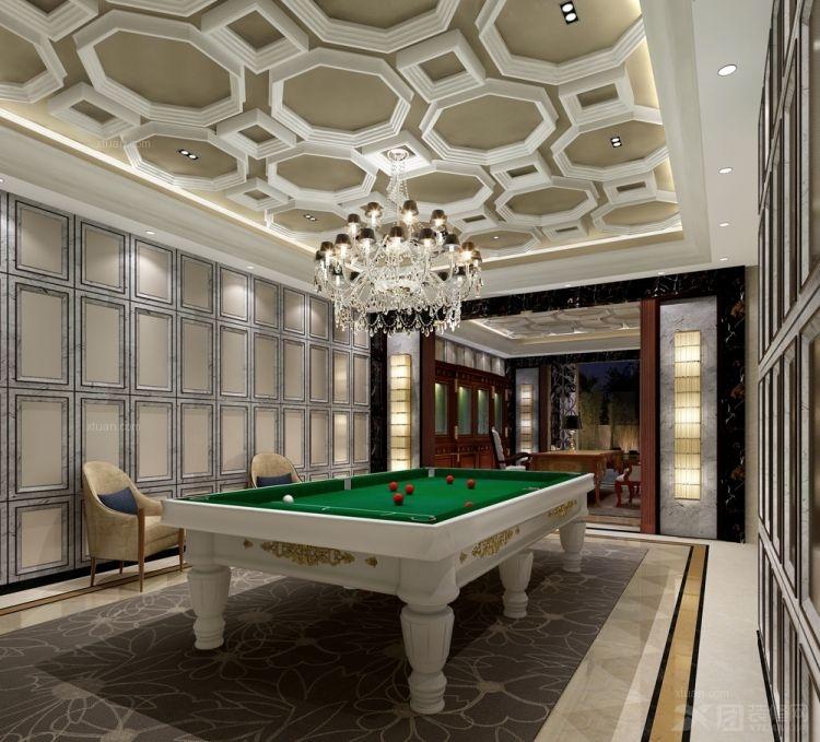 别墅法式风格地下室图片