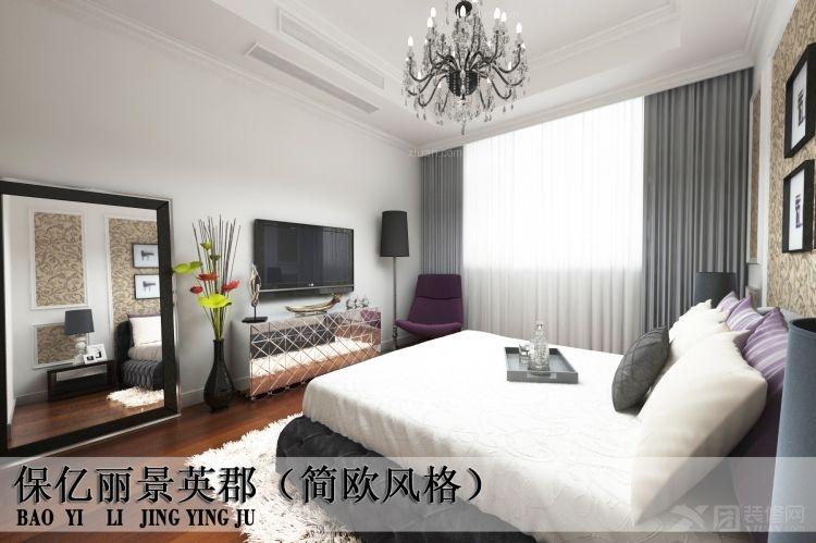 两室一厅简欧风格客厅_保亿丽景英郡装修效果图-x团图片