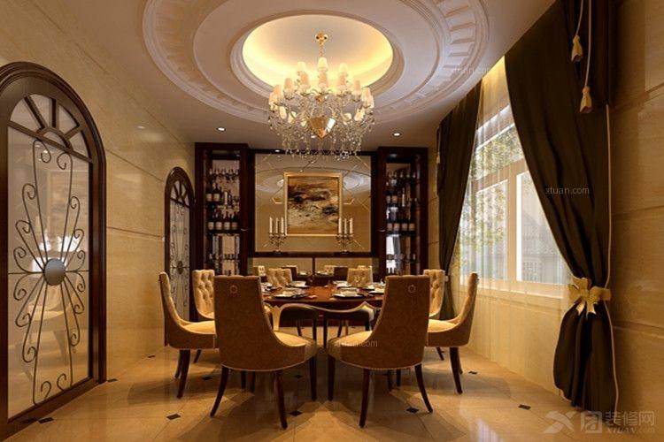 三室两厅欧式风格餐厅_中骏蓝湾半岛装修效果图-x团