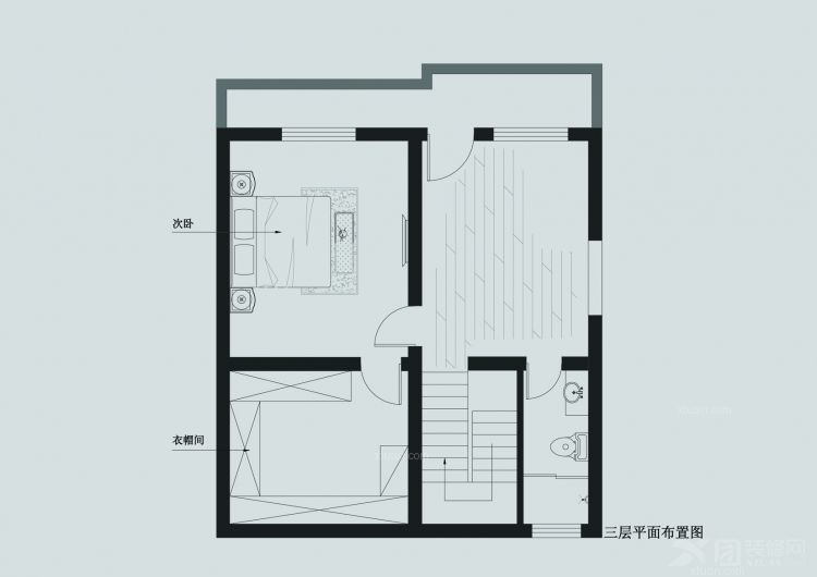 联排别墅现代简约小卧室