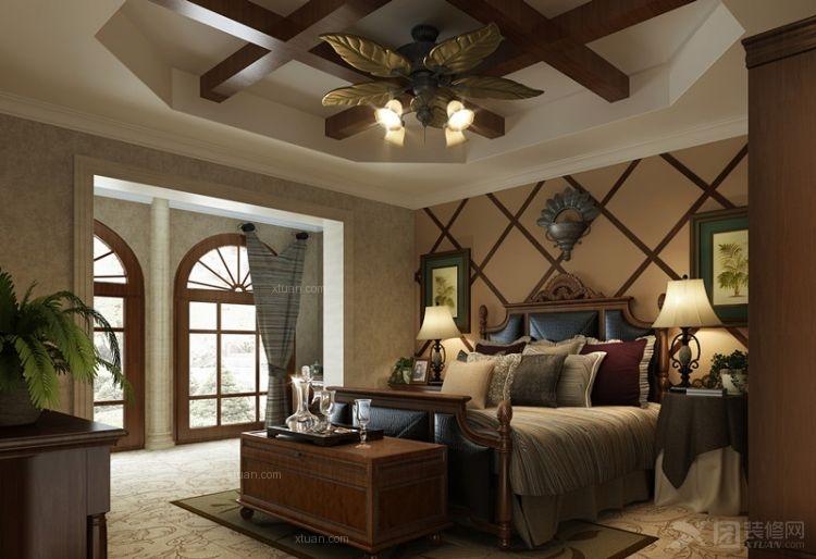 三室一厅中式风格卧室