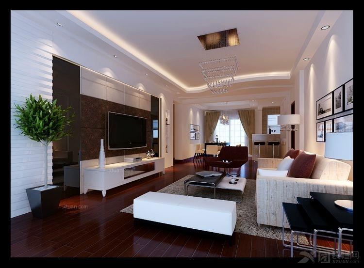 两室两厅简约风格客厅电视背景墙