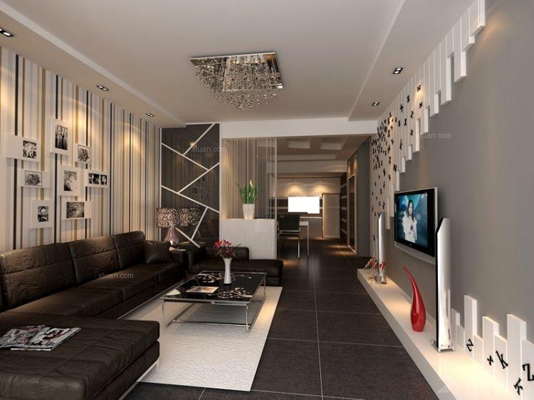 两室两厅现代风格客厅软装