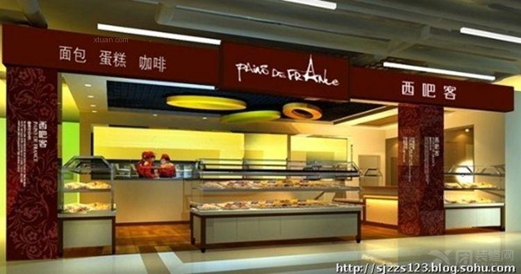 现代风格_[蛋糕房设计] 西吧客面包房设计图装修效果图