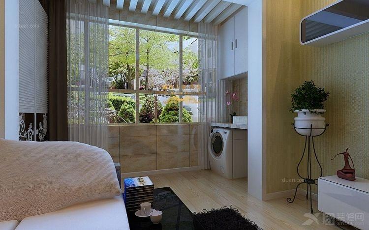 两室一厅现代简约阳台花园入户花园