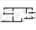 厂洼街小区96平田园风格两居室装修案例
