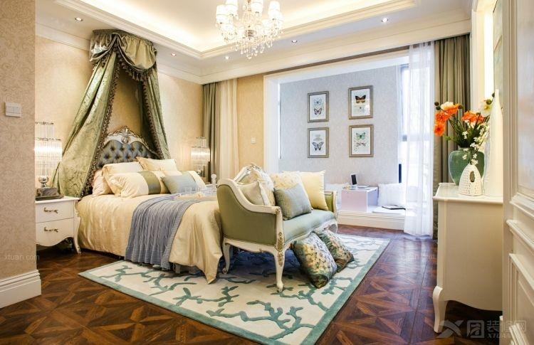 大户型美式风格主卧室卧室背景墙