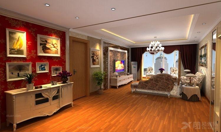 三室两厅欧式风格客厅软装