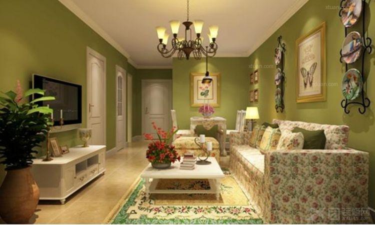 两居室田园风格客厅软装