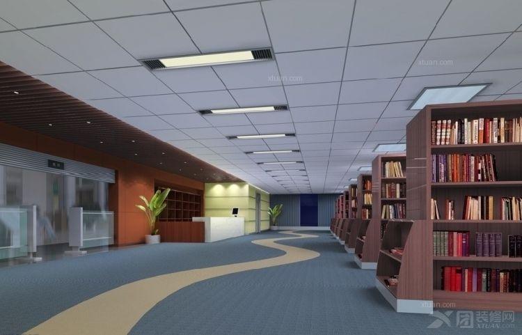 寬敞的圖書閱覽室