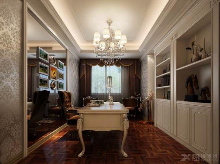 四居室欧式风格书房照片墙