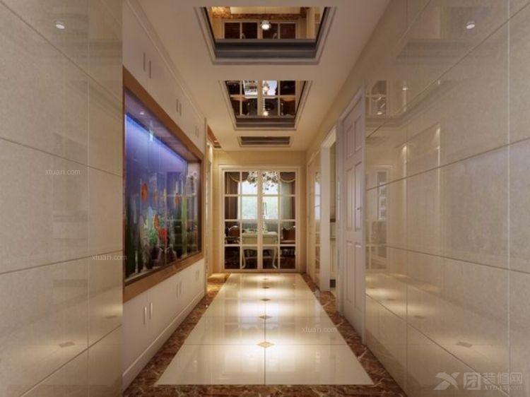 四居室欧式风格过道墙绘