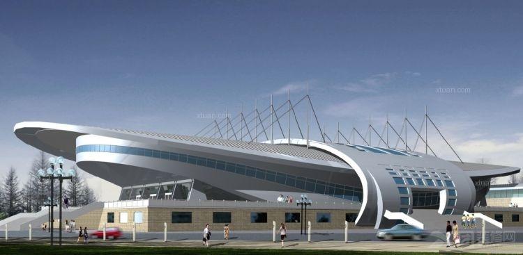 船型体育馆设计装修效果图