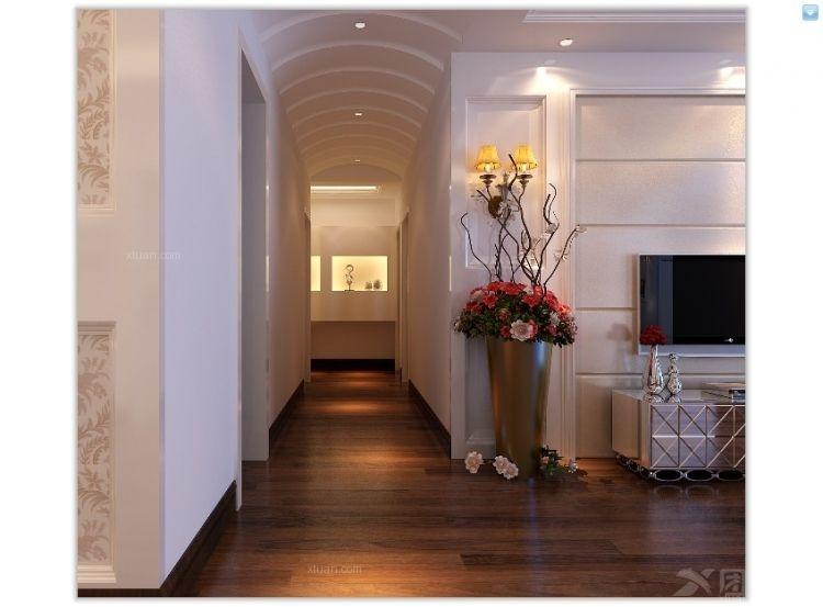 三室两厅简欧风格过道图片