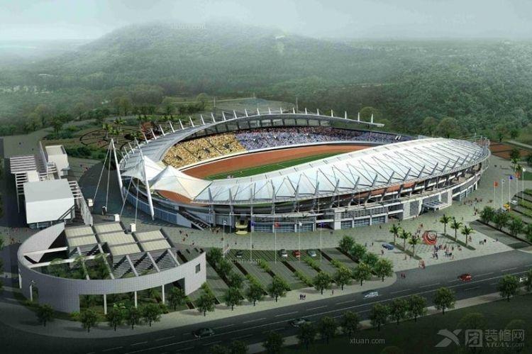 露天椭圆形体育场设计