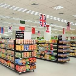 国外超市食品货架摆放