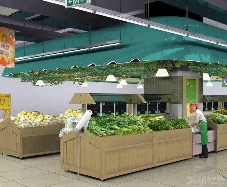超市蔬菜区设计