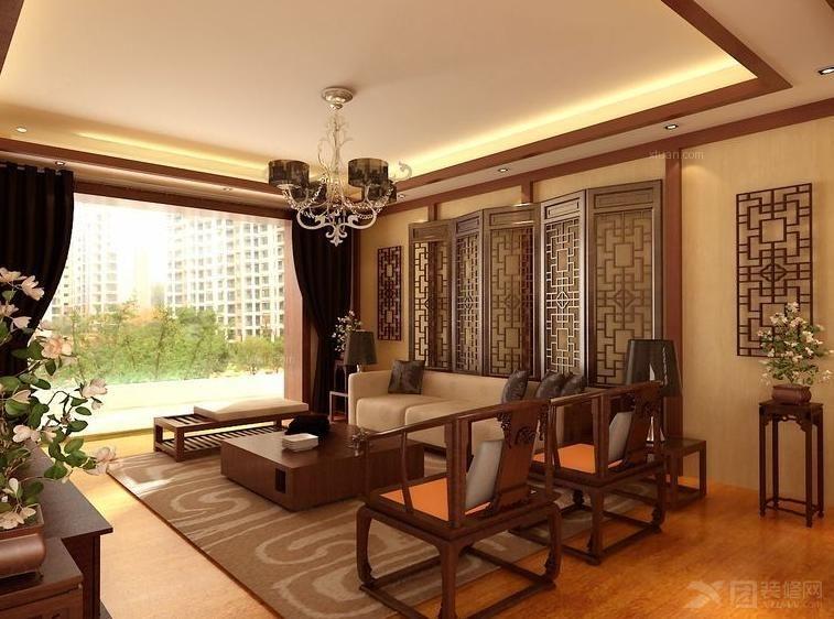 别墅古典风格客厅软装