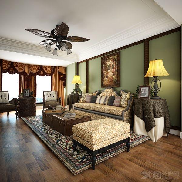 两居室欧式风格客厅沙发背景墙图片