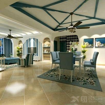 三居室中式风格客厅圆形吊顶