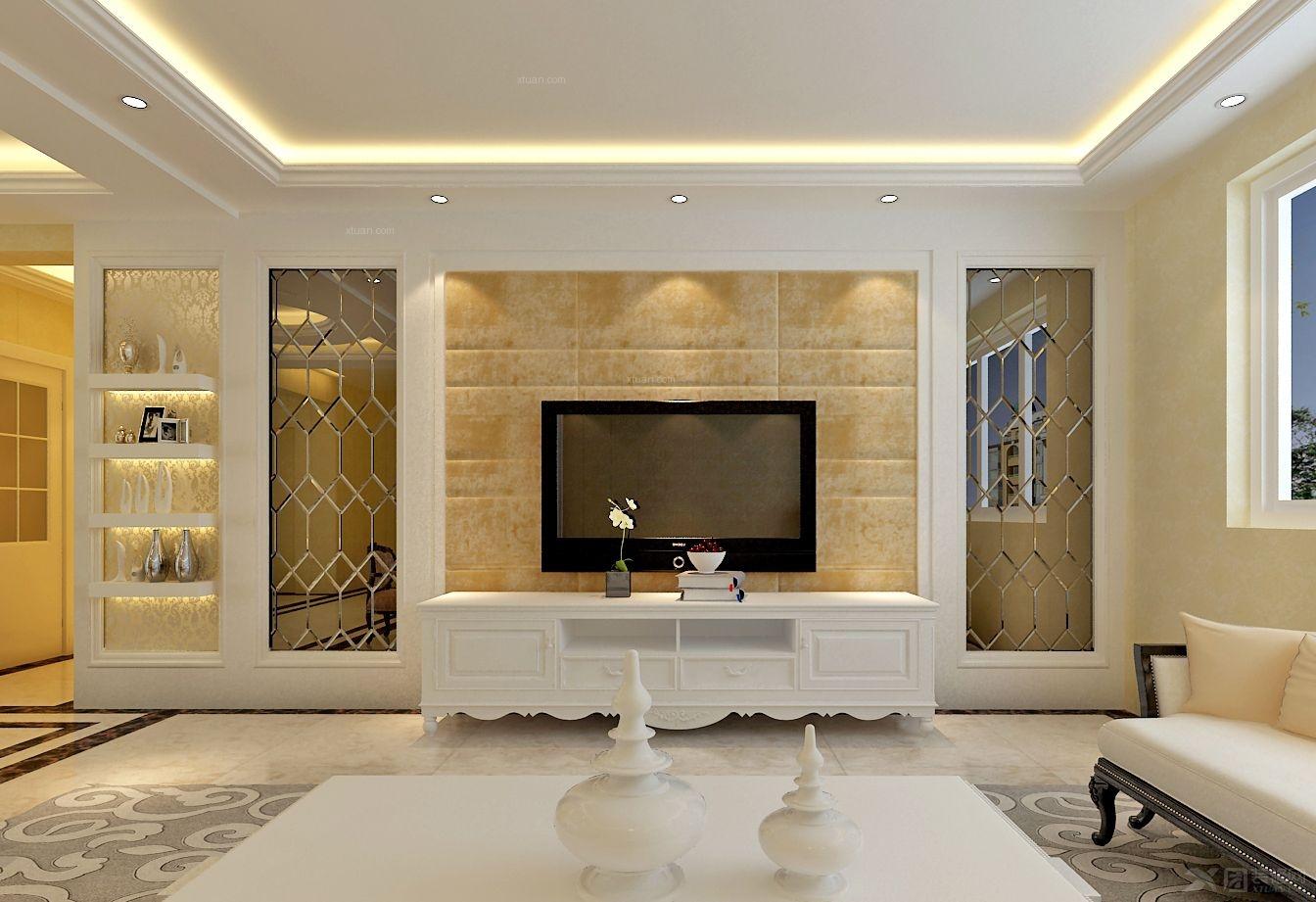 客厅简易背景墙餐客厅背景墙图片1