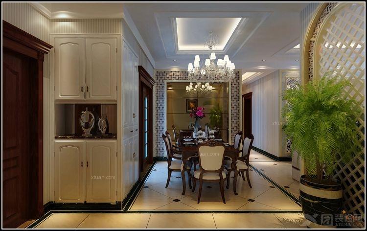 三室两厅欧式风格客厅_花果园装修效果图-x团装修网