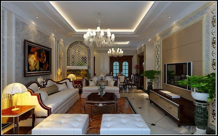 三室两厅欧式风格客厅