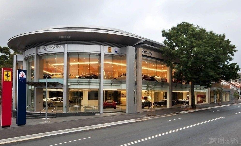 法拉利4S 店 设计 装修效果图 X团装修网 法拉利4S店 设计装修效果 图 高清图片