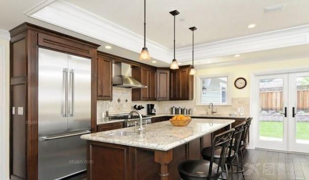 三居室欧式风格厨房图片
