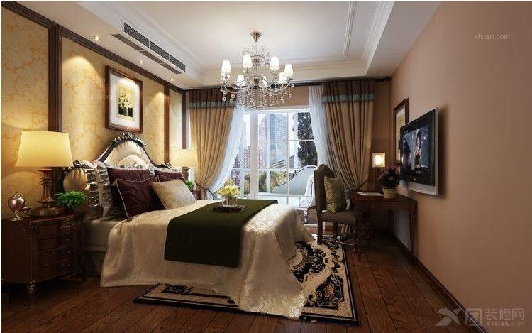 四居室美式风格客厅电视背景墙_茂新·四季尊域装修图图片