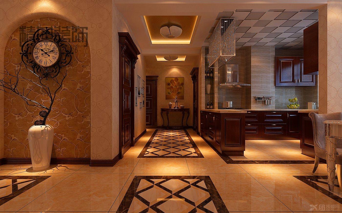 三室两厅欧式风格_欧式装修效果图-x团装修网图片