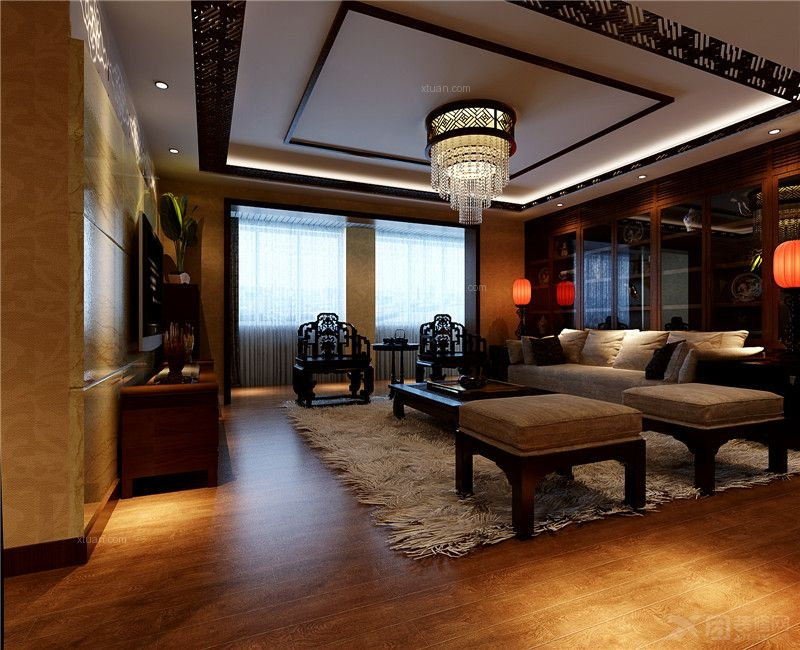 恒大华府200平中式风格大宅设计