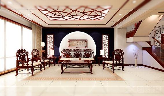 天安海景中式别墅案例