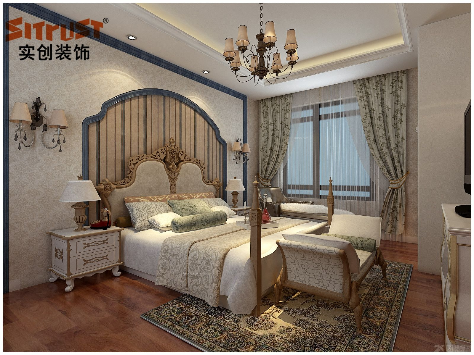 别墅美式风格客厅图片