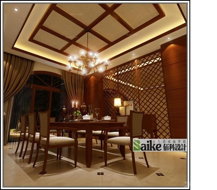 别墅东南亚风格餐厅